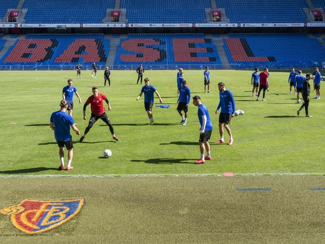 FCB-Spieler im Training.