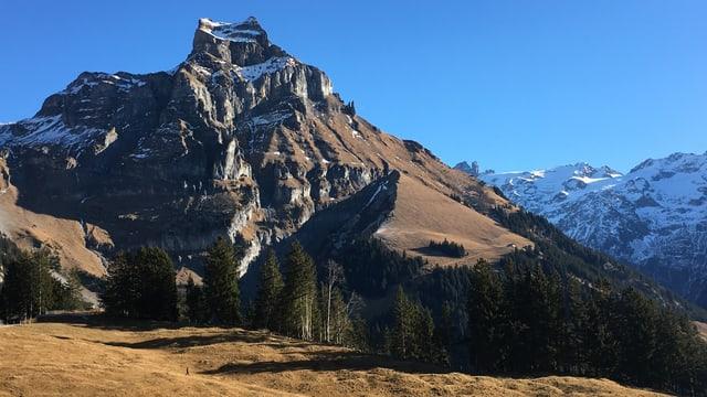 Grüne Berge an Neujahr im Engelbergertal.