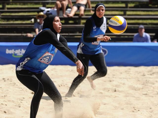 Randa Radwan und Doaa Elghobashy im Einsatz an der WM.