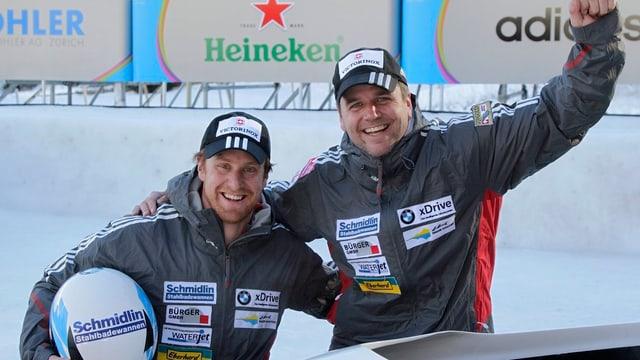 Beat Hefti (recht) und Jürg Egger.