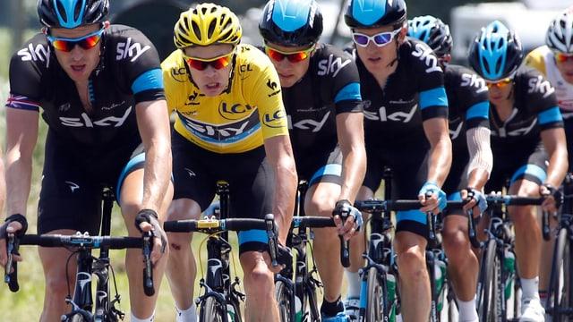 Der Tourleader Chris Froome im Team Sky an der diesjährigen Tour de France.
