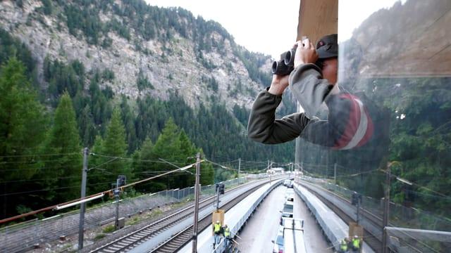 Österreichischer Grenzsoldat am Brennerpass.