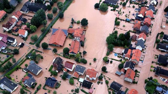 Eine überflutete Stadt.