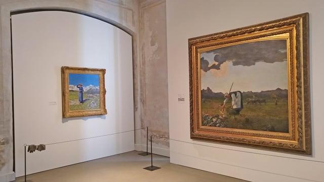 """La raccolta da fain"" e ""Mezdi en las alps"" - duas ovras fich enconuschentas da Giovanni Segantini."