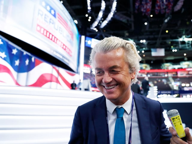 Geert Wilders auf der Convention in Cleveland.