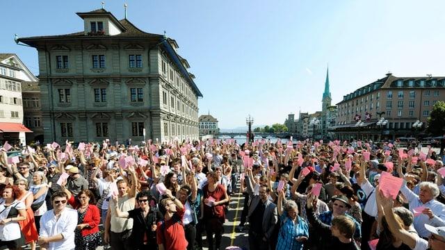 Faszination direkte Demokratie: 2011 führte ein loses Kollektiv zum ersten Mal eine Landsgemeinde in Zürich durch.