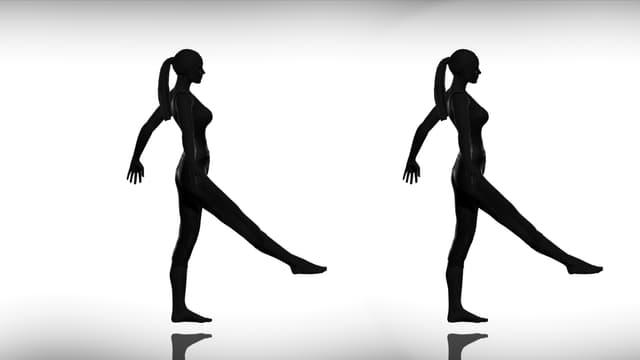 Zwei Silhoutten einer tanzenden Frau.