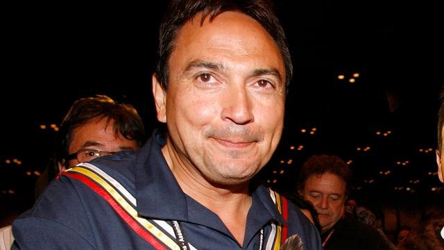 Porträtaufnahme des neu gewählten Oberhäuptlings der Indianer Kanadas, Perry Bellegarde.