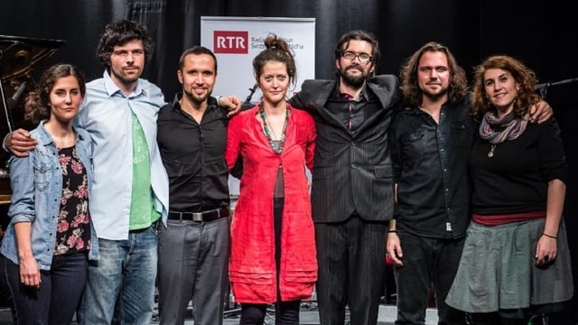Da sanester: Ursina, Pascal Gamboni, Mario Pacchioli, Bibi Vaplan, Tartaruga, Chadafö ed Astrid Alexandre.