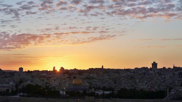 Blick auf Jerusalem: Israel plant den Bau von weiteren 1600 Wohnungen auf einem Hügel südöstlich der Stadt.