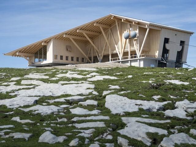 Gipfelgebäude auf dem Chäserrugg