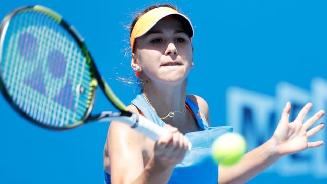 Belinda Bencic während ihrer Erstrunden-Partie in Melbourne.