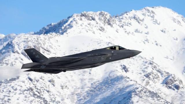 Der F-35a in der Luft.