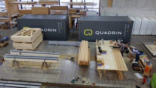 L'emprim modul dal Quadrin Event che vegn il mument construì, è da vesair a partir dals 3 da december tar l'arena da Biatlon a Lantsch.