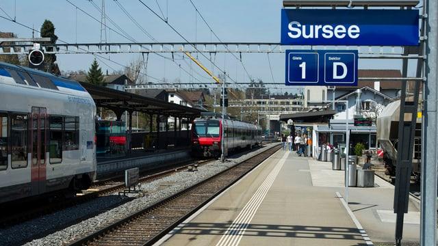 Das Perron 1 im Bahnhof Sursee