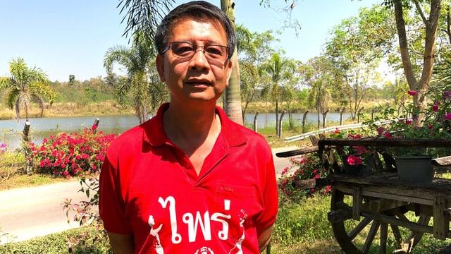 Rothemd-Aktivist Hansak Benjasripitak.