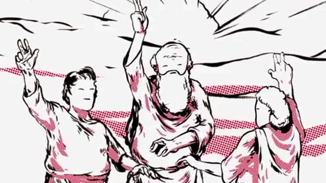 Still aus dem Videoclip «Swiss International Psalm» (2011).