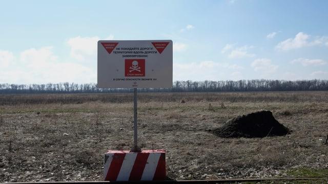 Sperrgebiet an der ukrainisch-russischen Grenze.