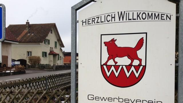 Ortseingangstafel Wolfwil