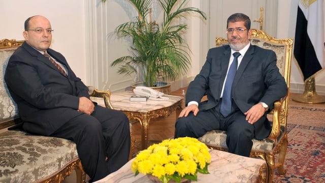 Mohammed Mursi und Talaat Ibrahim Abdullah.