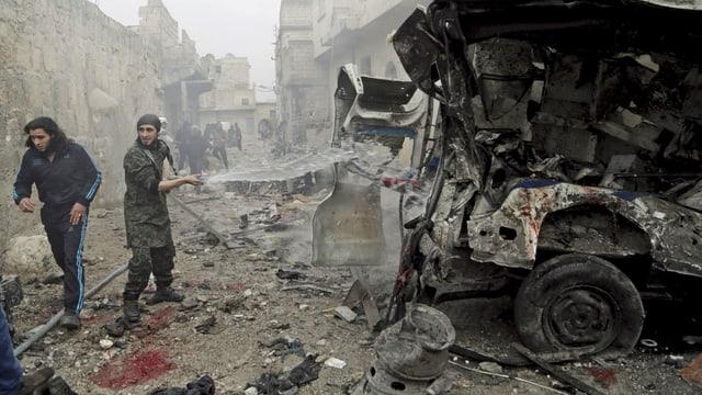 Bild vom 12.01.2016: Auch in der syrischen Provinz Idlib wurden bei drei Luftangriffen zahlreiche Zivilisten getötet.