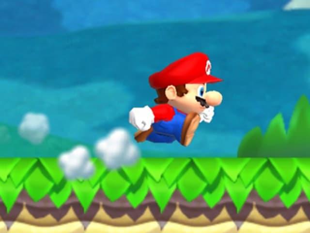 La figura da gieus da computer Super Mario.