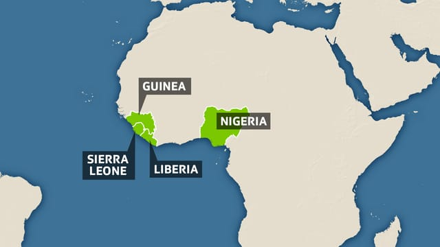 Karte Westafrika