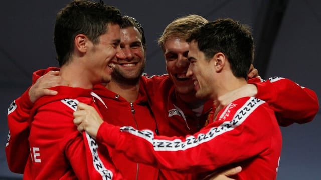 Fabian Kauter, Benjamin Steffen, Florian Staub and Max Heinzer (von links) setzten sich in Argentinien durch.