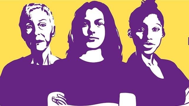 Plakat des Frauenstreiks