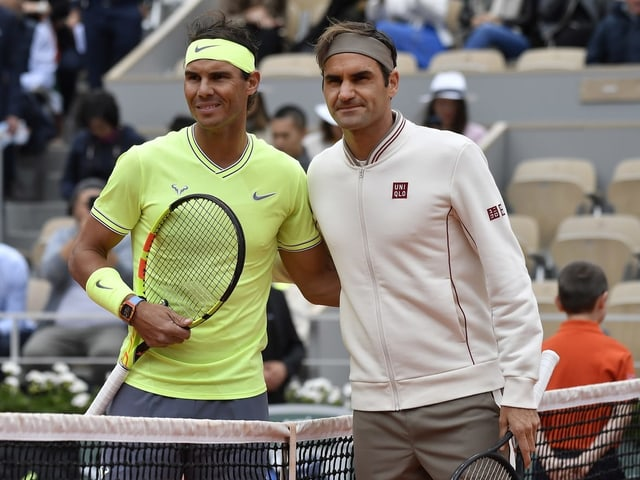 Rafael Nadal und Roger Federer.
