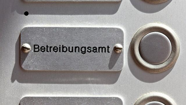 Die Klingel des Betreibungsamtes St. Gallen.