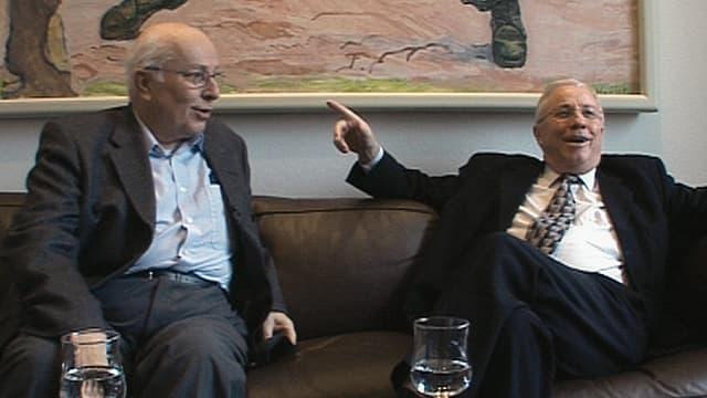 Video «Gebrüder Blocher - Betrachtungen vor der Bundesratswahl» abspielen
