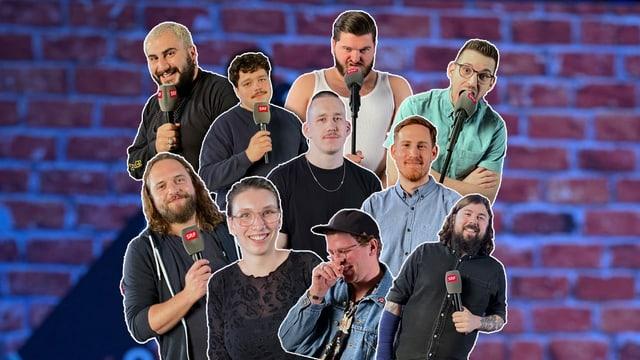 Ein bunter Haufen: Diese 10 Newcomer standen auf unserer Talentbühne.