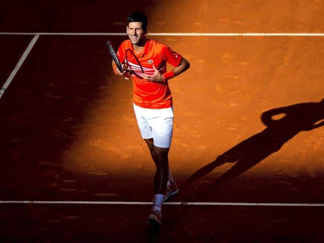 Novak Djokovic mit seiner bekannten Jubelgeste.