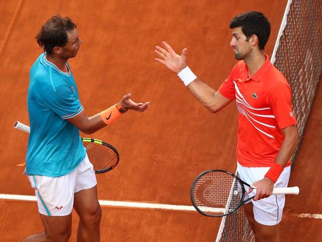 Rafael Nadal und Novak Djokovic in Rom