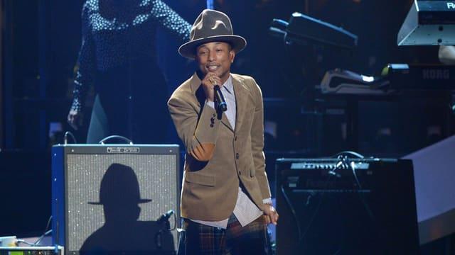 Pharrell Williams trat bei den «Brits» mit Hut auf.