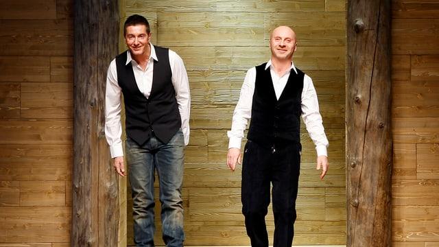 Die beiden italienischen Designer Domenico Dolce (rechts) und Stefano Gabbana (links).