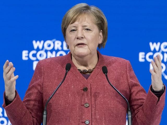 Angela Merkel in Nahaufnahme.