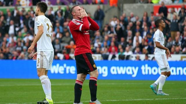 Wayne Rooneys Manchester United wurde in Swansea erstmals gebremst.