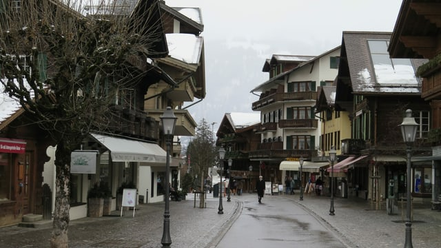 Strasse in Gstaad