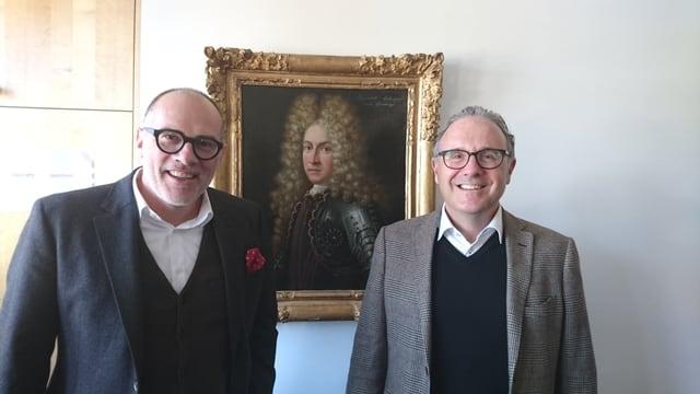 Jürg Schmid (san.) e Martin Vincenz han visità las organisaziuns da turissem da la Surselva.