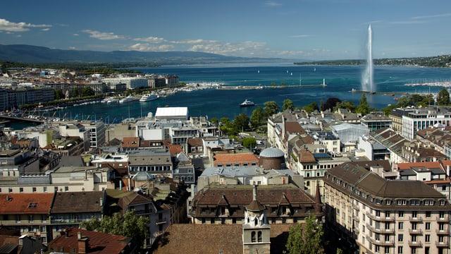 Blick über die Stadt Genf