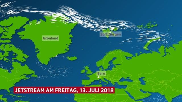 Europakarte, Wind im Norden