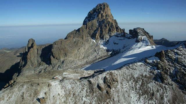 Eisfläche auf dem Mount Kenya.