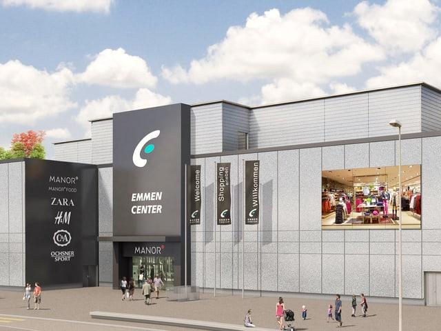 Das Einkaufszentrum Emmen Center
