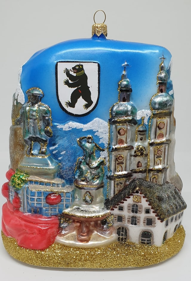 Prototyp der St. Galler Altstadt als Weihnachtsschmuck