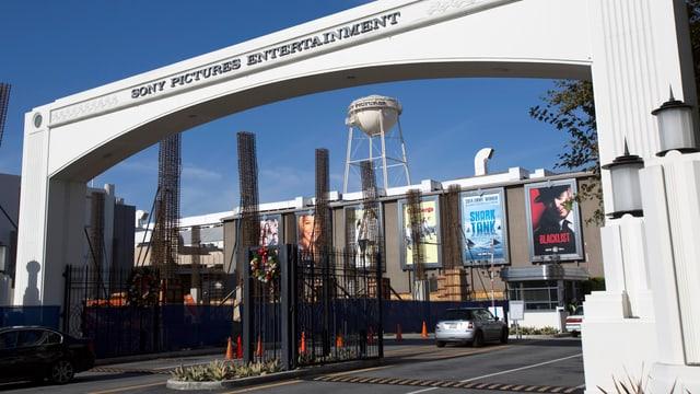 Eingang zu den Filmstudios von Sony Pictures in Culver City, Kalifornien.