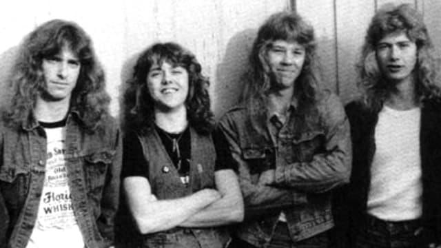 Metallica im Jahr 1983: Damals nocht mit Cliff Burton (†), Lars Ulrich, James Hetfield, Dave Mustaine. (v.l.n.r.)