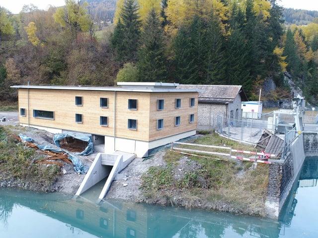 Das Kleinwasserkraftwerk Adont in der Nähe von Savognin