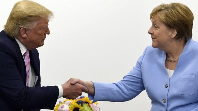 Trump und Merkel